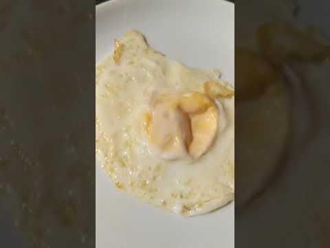 Donald-Trump-style fried egg. + Marmite