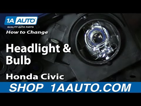 How to Install Change Headlight and Bulb 2001-05 Honda Civic