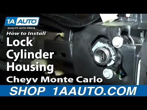 How To Install Replace Lock Cylinder Housing 2000-05 Cheyv Monte Carlo
