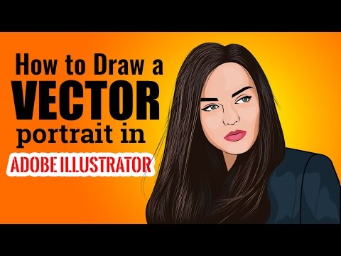 how to draw a vector portrait in illustrator : A simple tutorial about how to draw a vector portrait