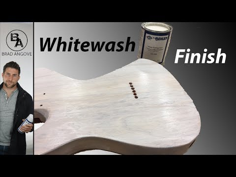 How to do a whitewash or white stained guitar
