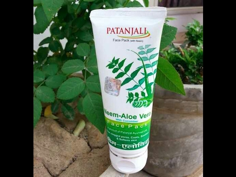 Patanjali Neem-Aloe Vera with Cucumber Face Pack Review in Hindi