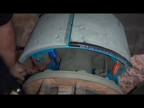semi truck and trailer brake job