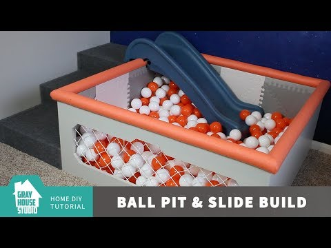 Ball Pit and Slide Build // DIY