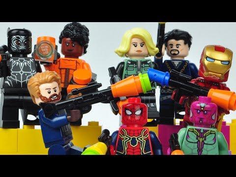 LEGO AVENGERS INFINITY WAR NERF Gun battle