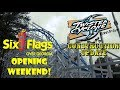 Six Flags Over Georgia Opening Weekend 2018 Twisted Cyclone / General Park Update!