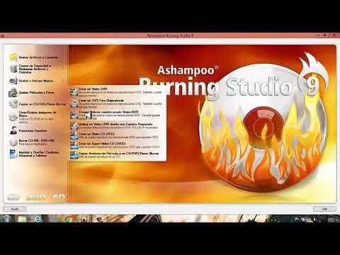 COMO GRABAR PELICULAS EN UN DISCO DVD con Ashampoo Burning Studio 9 12