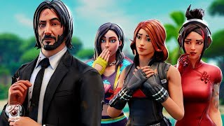 JOHN WICK HAS A FAN CLUB OF GIRLS?! (A Fortnite Short Film)