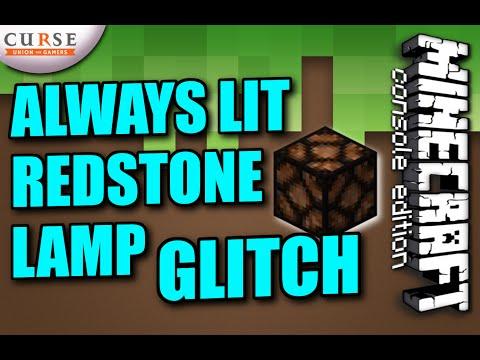 MINECRAFT - PS3 - ALWAYS LIT REDSTONE LAMP GLITCH - TIPS N TRICKS - XBOX / PS4 / PC -  -