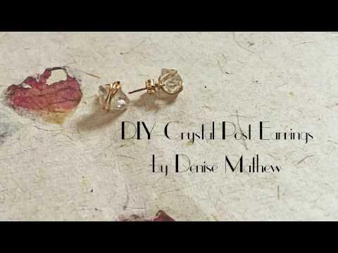 DIY Crystal Post Earrings by Denise Mathew