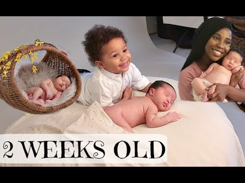 CUTEST NEWBORN BABY PHOTOSHOOT AT 2 WEEKS OLD | AdannaDavid
