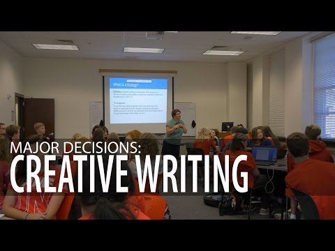 Major Decisions: Creative Writing