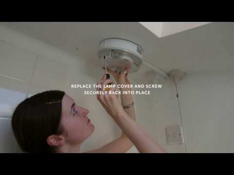 College and County - How to change a fluorescent bathroom lamp bulb