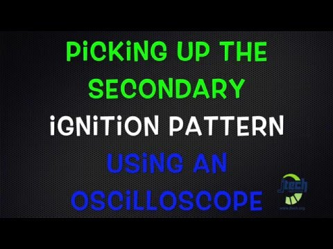 Picking up the secondary ignition pattern using an oscilloscope