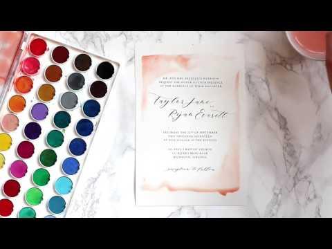DIY Watercolor Wedding Invitations