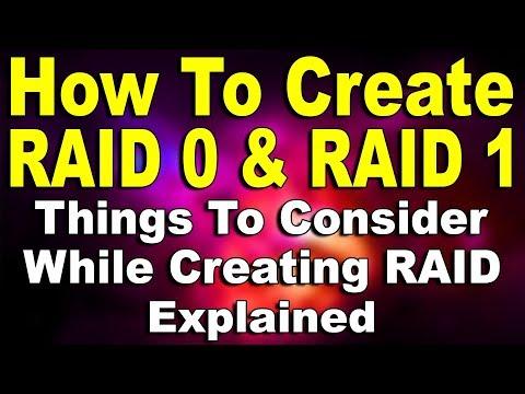 How To Create RAID 0 & RAID 1? (Hindi)