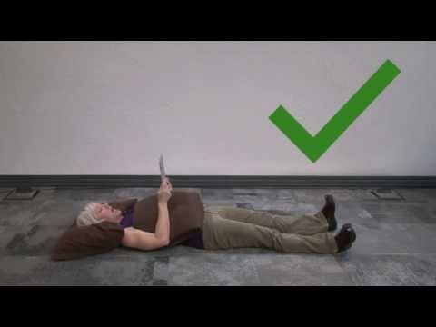 How to have good posture while laying down and reading
