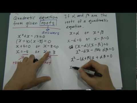 Roots of quadratic equation (SPM Add Maths)