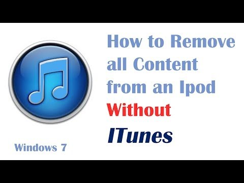 Remove Music from an Ipod Without Itunes - Windows