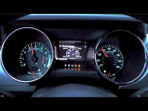 2015 Ford Mustang EcoBoost Automatic Shift Points