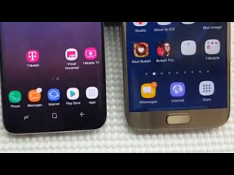 Galaxy S8: How to Add Apps Icon & Access Apps