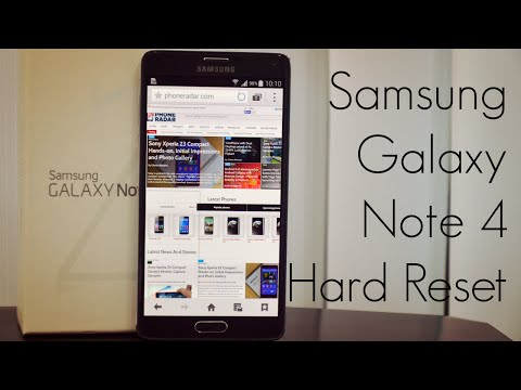 How To Hard Reset Samsung Galaxy Note 4 when Forgot Android PIN