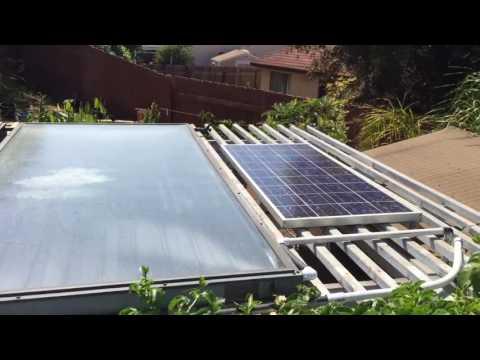 Solar heated hot tub jacuzzi spa