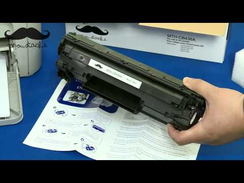 How to install Moustaches CB436A toner cartridge for HP Laserjet P1505