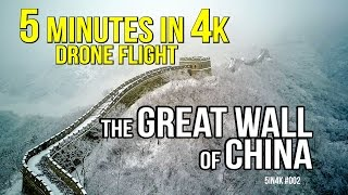 DRONE FLIGHT OVER THE GREAT WALL OF CHINA