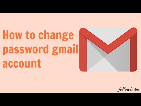 how to change gmail account password