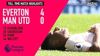 Everton 4 - 0 Manchester United | EPL Highlights | Astro SuperSport