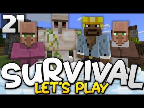 REVIVING THE VILLAGE!!! - Survival Let's Play Ep. 21 - Minecraft Bedrock (PE W10 XB1)