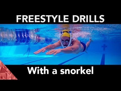 How to swim freestyle faster. Drills with snorkel