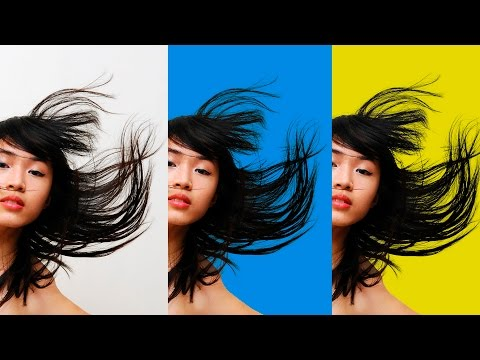How to select and cut out hair in photoshop to change background