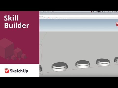 SketchUp Skill Builder: Modeling a Chess Set, Part 1 - Pawn