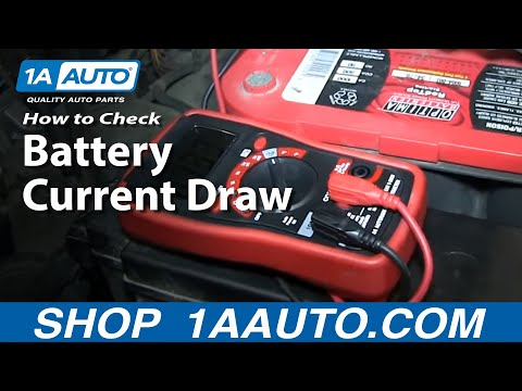 How To Perform a Battery Current Draw or Run Down Test and Locate Problems