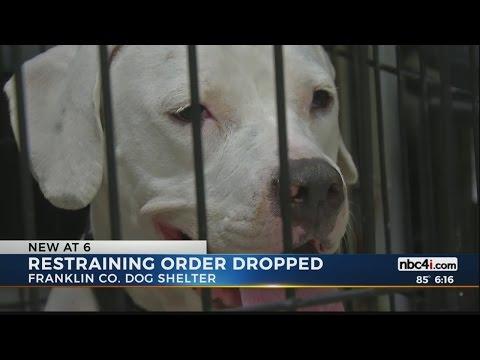 Restraining order dropped against dog shelter