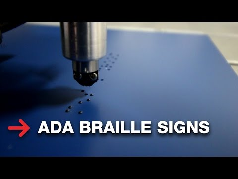 ADA Braille Signage | Making Braille Signs