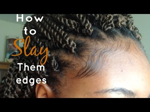 How to keep them Edges LAID & SLAYED while your have Braids | CurlsFroReal