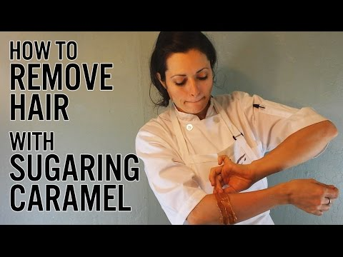 How to Remove Hair with Sugaring Caramel
