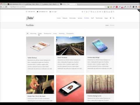 Adding Portfolio Items & Portfolio Page - Total WordPress Theme