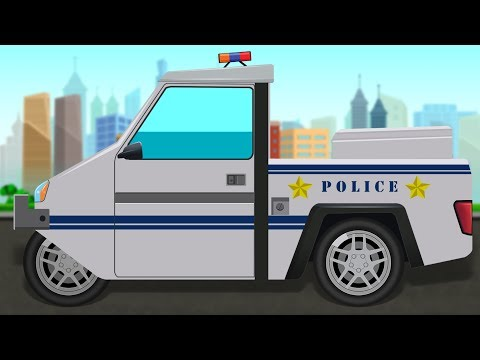 Police Parking Car | Formation and Uses | Police Vehicle | Children Video