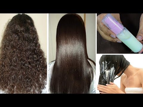 Straighten Hair Naturally At Home | Magical hair Straightening SPRAY (INSTANT RESULT)