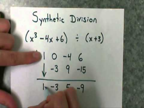 Synthetic Division (part 2) - divide a polynomial by a binomial with a remainder
