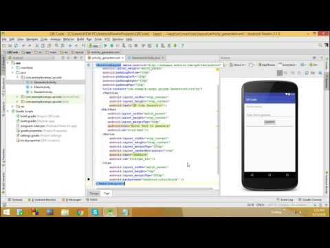 QR Code Generation - Android Application using ZXing Library