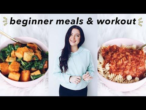 Beginner Vegan Meals + Workout Routine!