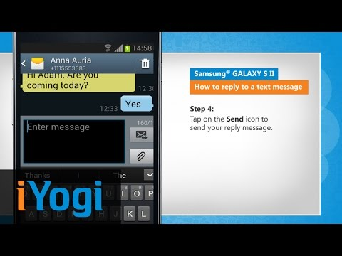 How to reply to a text message on Samsung® GALAXY S II