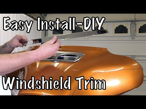 How to Install Ciro 3D Windshield Trim on Harley-Davidson Touring