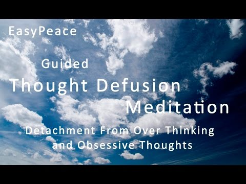 Guided Meditation for OCD/Anxiety - Detachment from Intrusive Thoughts