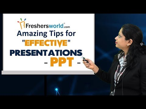 10 Amazing Presentation Tips - Best video for corporates and Students, PPT
